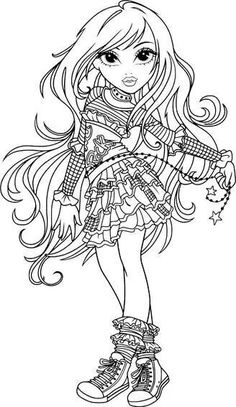 Free Printable Ever After High Coloring Pages: Madeline