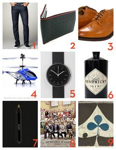 Gifts for guys. Can't go wrong with #4. ;-)