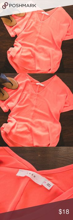 Lush Neon Pink Flow Top Perfect breathable summer top. Neon pink makes you pop and gives your skin a nice glow. Lush Tops Blouses