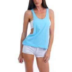 Blue summer top:) As shown ! This is a business ! Unless pictures are provided . Do NOT ask for modeled pictures.  Most of my items are new and if I try them On they are not technically new now are they ? NO TRADES ! Or additional photos . Most websites only show the modeled items and I treat my closet as an actual business considering these are about 95% new items ! Thanks you , I appreciate you're participation ! Tops Tank Tops