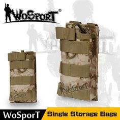 WOSPORT Airsoft Molle Vest Bag Tactical 1000D Magazine Pouch Pocket for Military Outdoor Hunting Hiking Paintball Accessories