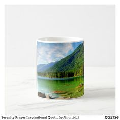Serenity Prayer Inspirational Quote Mountains Lake Coffee Mug #serenityprayer #serenityprayermug #inspirationalquotes #inspirationalquotesmugs #mountainvalleymugs #mountainlakes #christmas2020 #christmasgifts2020