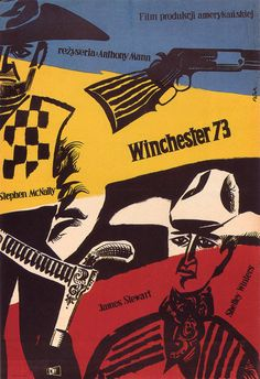 1958 poster by Jerzy Flisak for Winchester 73