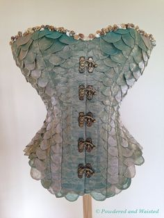 La Sirène The Mermaid Corset by PowderedandWaisted on Etsy