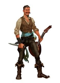 Male Human Bard Beadle Bumpkin - Pathfinder PFRPG DND D&D 3.5 5th ed d20 fantasy