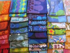 lots of lovely vintage fabric! from my rainbow vintage home blog