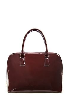 Faux Patent Leather Satchel | FOREVER21 - 1055879511