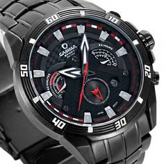 CASIMA-8201-Men-4-Dial-Sport-Night-Light-Quartz-Watch-Men-Watches-Bracelet-Black
