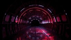 step inside this plane fuselage to take the intergalactic space flight of the future light installationa - Captivating Light Installation Artists