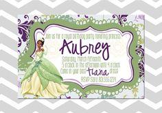 Customizable Girl Tiana Princess Birthday by ADashOfBeautiful, $6.50