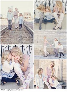 Spring Family Picture Ideas: Rustic Sisterly Chic