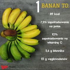 Macie ochotę na banana?  #banana #fruit #diet #fit #fitness #gym #sugars #training #snack #healthyfood #healthysnacks #banany #dieta #ćwiczenia #trening #zdrowie #zdrowejedzenie #zdroweprzekąski