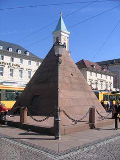 pyramide platz karlsruhe Countries, Beautiful Places, Sweet Home, Germany, Spaces, Travel, Karlsruhe, Viajes, House Beautiful