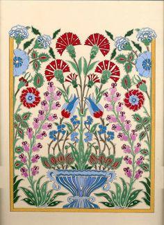 Çini deseni çalışmam. Tile Murals, Tile Art, Mosaic Art, Turkish Tiles, Turkish Art, Turkish Design, Pottery Patterns, Tile Patterns, Turkish Pattern