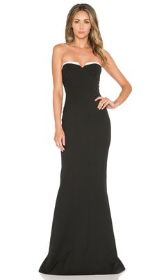Elle Zeitoune LUXE O'Keefe Dress in Black & White | REVOLVE