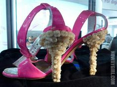 Shoes with teeth on them!? Wtf...