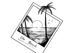 polaroid like this...LOVE how the palm tree extends beyond boarders!