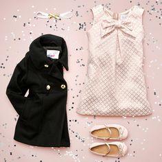 Toddler girls' fashion | Kids' clothes | Shift dress | Coat | Flats | Headband | The Children's Place