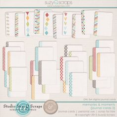 Memories & Moments {Journal Cards 2} || SuzyQ Scraps $3.99