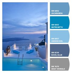 Greece - colors of paradise - - - - - -Paint colors from Chip It! by Sherwin-Williams