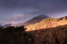 Rainbow around Sgurr na Lapaich, Glen Affric