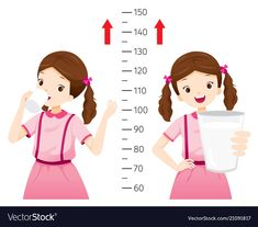 Girl drinking milk for health and taller girl vector image on VectorStock Kids Vector, Vector Free, Find Girls, Drinking Milk, Royalty Free Photos, Illustration, Typo, Cartoon, Lifestyle
