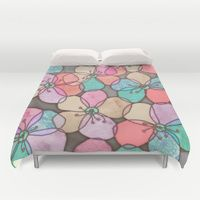 Duvet Cover featuring It's Always Summer Somewhere - bright poppy floral by micklyn