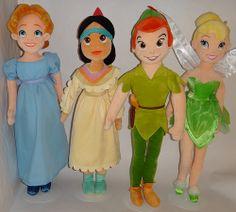wendy and peter pan   Cast of Peter Pan - Wendy, Tiger Lily, Peter Pan, Tinker Bell Medium ...