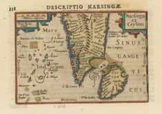 Map Antique Geological Kircher 1668 Under World Replica Canvas Art Print