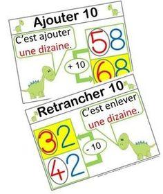 Ajouter et Retrancher 10 Math 2, 2nd Grade Math, Math College, Math Term, Math Addition, Cycle 3, Math Lessons, Math Centers, Mathematics