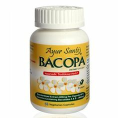 "Bacopa-Extract 600mg Per Cap(60% Saponins containing Bacosides A&B -360mg*) 60 Veg Caps by AyurSante'. $14.99. Bacopa is an ancient medicinal herb used in Ayurveda for centuries. Bacopa belongs to a class of Ayurvedic herbs known as ""Brahmi"" which can be interpreted as ""God like"". This means that it has so many good effects on the mind and body that the Ayurvedic scholars have held it in high esteem.  Each vegetarian capsule contains 600mg Bacopa(Bacopa Monneira).  It ..."