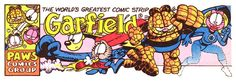 I clipped this Fantastic Four | Garfield mashup from a Sunday comic in 1996 (my best guess). It's a fun mix that works!