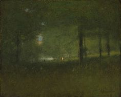 George Inness (1825-1894) - A Glimpse of the Lake, 1888