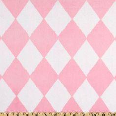 Pink Harlequin Minky $11.89/yd