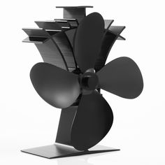 New Arrival 4-Blade Aluminum Wood Burning Stove Fan 17% Cost Saving Heat Powered Stove Fan