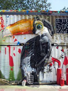 BORDALO  II  'Froehlicher Tucan' .. at Urban Spree ..  [Berlin, Germany 2015]