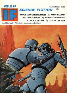 Worlds of If, November 1966. Cover by Dan Adkins.