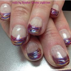 LCN's new colors. berry Punch on the Homecoming line, as well as the new Enchanted Violet with brilliant gold marbled!