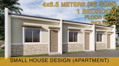 Small House Design Idea - Apartment (4x6.5 meters) 26sqm with One Bedroom - YouTube Studio Type Apartment, Studio Apartment Floor Plans, Small Apartment Design, Row House Design, Simple House Design, Bungalow House Design, Micro House Plans, Small House Plans, House Design Pictures