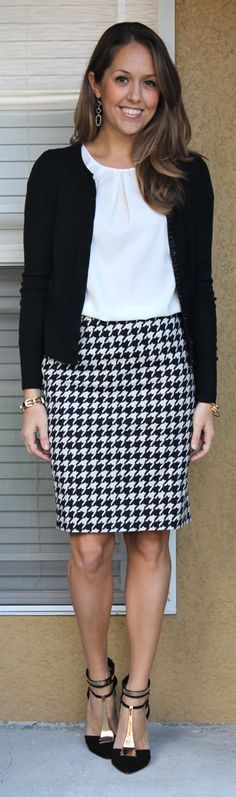 houndstooth + cardigan