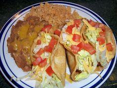 Shredded Chicken Tacos Plate 1
