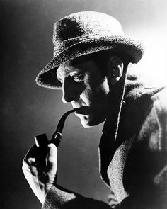 Sherlock Holmes Basil Rathbone 1940's. This Is My Favorite!!!!    (Consulting Detective - #ICON2Me)