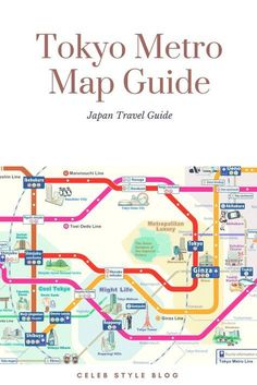 Tokyo Metro Map Guide. Sightseeing map for tourists traveling in the Tokyo area