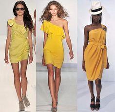 Yellow Fashion    Spring 2010 Fashion Week Trend: Vibrant Yellow