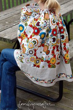 Family Ever After....: {Tutorial} Full Coverage Nursing Shawl with Sewn-in Boning