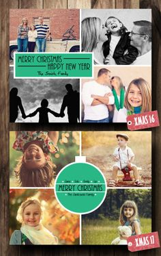 Christmas Card Photo Collage Digital File by CelebrationCity, $10.00 Christmas Photo Cards, Holiday Cards, Christmas Ideas, Celebration City, Party Invitations, Card Ideas, Collage, Digital, Collage Art