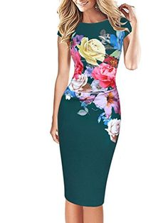 60dc36ebb7 Women s Plus Size Party Street chic Bodycon Dress - Floral Print   Slim