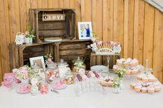 Stilvolle Candybar für eine Hochzeit.