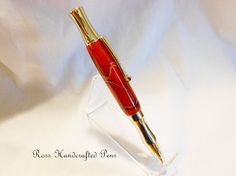 Handcrafted Ballpoint Pen Acrylic Platinum by RossHandcraftedPens