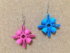 Quilling Earrings Authentic using quilling mould & sweker - YouTube